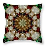 Green White Red Blue Kaleidoscope 1 Throw Pillow