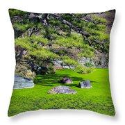 Green Winter Throw Pillow