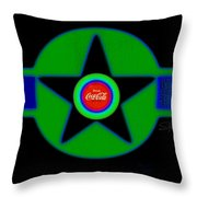 Green With Blue Throw Pillow