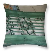 green with envy Jerusalem Throw Pillow