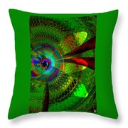 Green Worlds Throw Pillow