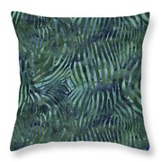 Green Zebra Print Throw Pillow