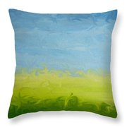 Greener Pasture 3- Digital Painting Throw Pillow