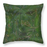 Greenery In Green Throw Pillow