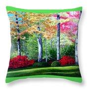 Greenfield Lake Garden Throw Pillow
