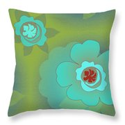 Greenfloral Throw Pillow