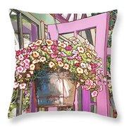 Greenhouse Doors Throw Pillow