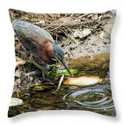 Greenie At Dusk Throw Pillow