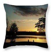 Greenlake Evening Throw Pillow