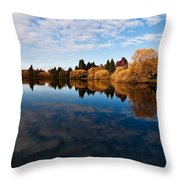Greenlake Fall Reflections Throw Pillow
