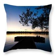 Greenlake Sunset Throw Pillow
