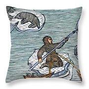 Greenland Eskimos, 1555 Throw Pillow