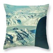 Greenland From Flight Level 380 Throw Pillow