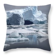 Greenland's Icebergs Throw Pillow