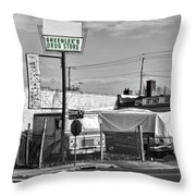 Greenlees Drug Store Throw Pillow