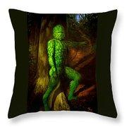 Greenman Throw Pillow