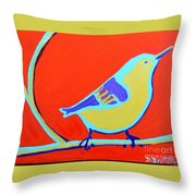 Greenough Nuthatch Throw Pillow