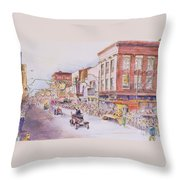 Greensboro Christmas Parade 1960 Throw Pillow