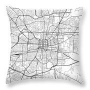 Greensboro North Carolina Usa Light Map Throw Pillow
