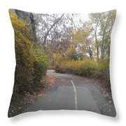 Greenway Trail In The Fall Throw Pillow