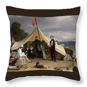 Greenwich Boat Club Throw Pillow