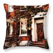 Greenwich Village Charm Throw Pillow
