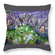 Greenwood Graveyard Brooklyn Throw Pillow