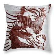 Greeting 10 - Tile Throw Pillow