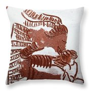 Greeting 2 - Tile Throw Pillow