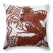 Greeting 3 - Tile Throw Pillow