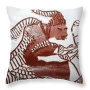 Greeting 5 - Tile Throw Pillow