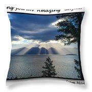 Greeting Card - Flathead Lake Throw Pillow