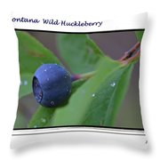 Greeting Card - Huckleberry #4 Throw Pillow