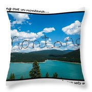 Greeting Cards - Set Me Free In Mt Throw Pillow