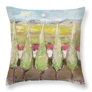 Greeting The Early Moon Throw Pillow