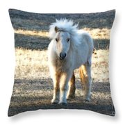 Greetings From A Hobbit Horse Throw Pillow