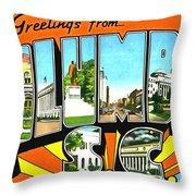 Greetings From Columbia South Carolina Throw Pillow