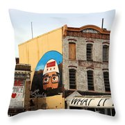 Greetings From Dystopia City -- Washington D C Throw Pillow