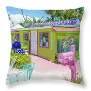 Greetings From Matlacha Island  Florida Throw Pillow