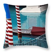 Greetings From Venice Throw Pillow