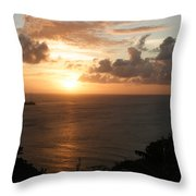 Grenadian Sunset I Throw Pillow