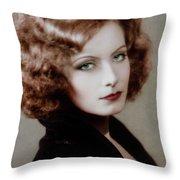 Gretta Garbo Throw Pillow