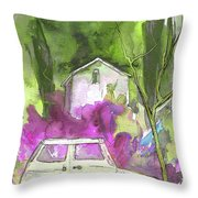 Greve In Chianti In Italy 02 Throw Pillow by Miki De Goodaboom