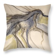 Grey And Gold Classic Throw Pillow