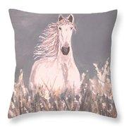 Grey And White Throw Pillow