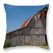 Grey Barn Throw Pillow