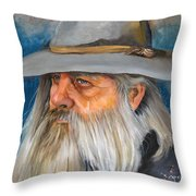 Grey Days Throw Pillow