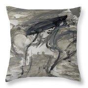 Grey Dream Throw Pillow