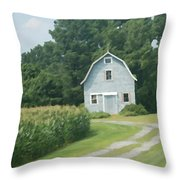 Grey Farmhouse - Northern Neck Throw Pillow