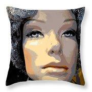 Grey Glitter Gertrude Throw Pillow